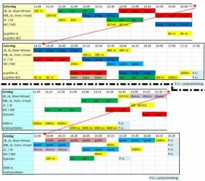 DAK clubdagen; activiteiten 26+27 sept 2015